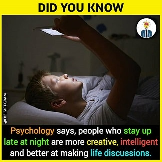 late night people are creative and intelligent