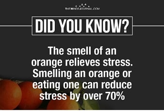 orange smell relieves stress