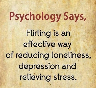 flirting is an effective way to reduce stress and loneliness