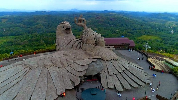 world's largest bird sculpture jatayu statue