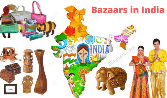 colorful traditional bazaars of india