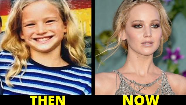 jennifer lawrence, celebrity childhood photos
